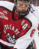 Adam Reid (NU - 8) - The Northeastern University Huskies defeated the University of Massachusetts Lowell River Hawks 4-1 (EN) on Saturday, January 11, 2014, at Fenway Park in Boston, Massachusetts.