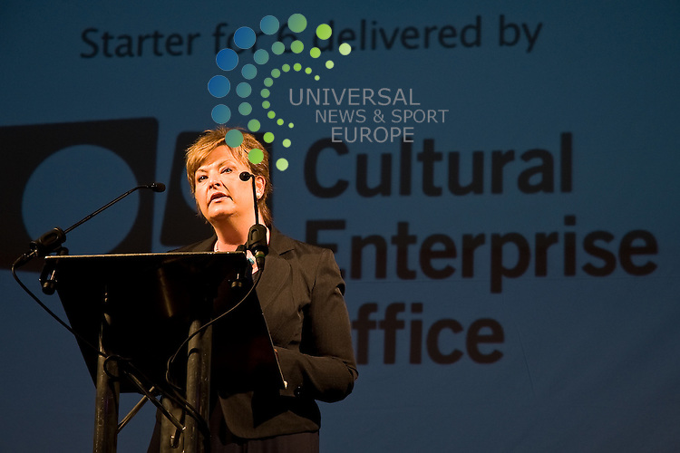 Fiona Hyslop, Cabinet Secretary for Culture and External Affairs speaking at the Starter For 6 Investment Awards.Summerhall, Edinburgh Picture: Jon Davey / Universal News and Sport (Europe) 11 August  2011.