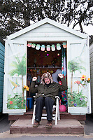 BNPS.co.uk (01202 558833)<br /> Pic: CorinMesser/BNPS<br /> <br /> Mike Holdsworth is one of the luck 15.<br /> <br /> We will fight them for the beach huts...<br /> <br /> A group of hardy souls queued up a day early in the freezing cold to secure a sought-after beach hut for the summer.<br /> <br /> They have gone to extreme lengths to snap up the 15 timber cabins available at Avon Beach, Christchurch, Dorset.<br /> <br /> The first in the queue, Jan Ryder, was in position at 6.15am on Sunday, almost 26 hours before the administration office opened at 7.30am today.<br /> <br /> Matthew Cox, 60, a mechanical engineer, was in position just before 7am. He remembers being taken to the beach by his late mother Margaret as a child and has queued up each year for a hut since her passing three years ago.