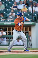 Casey Gillaspie (16) of the Durham Bulls at bat against the Charlotte Knights at BB&T BallPark on May 16, 2017 in Charlotte, North Carolina.  The Knights defeated the Bulls 5-3. (Brian Westerholt/Four Seam Images)
