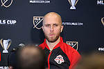 08 December 2016: Toronto captain Michael Bradley. Major League Soccer held a press conference with Toronto FC and Seattle Sounders FC at the Kia Training Ground in Toronto, Ontario in Canada two days before MLS Cup 2016.