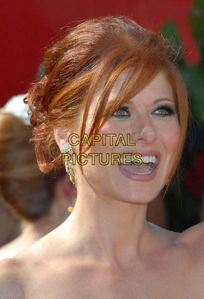 DEBRA MESSING.58th Annual Primetime Emmy Awards held at the Shrine Auditorium, Los Angeles, California, USA..August 27th, 2006.Ref: ADM/CH.headshot portrait mouth open.www.capitalpictures.com.sales@capitalpictures.com.©Charles Harris/AdMedia/Capital Pictures.