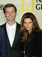 """30 October 2017 - Los Angeles, California - Patrick Schwarzenegger and Maria Shriver. National Geographic's """"The Long Road Home"""" Premiere held at Royce Hall in UCLA in Los Angeles. Photo Credit: AdMedia"""