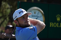 Tyrrell Hatton (ENG) in action during the first round of the Turkish Airlines Open, Montgomerie Maxx Royal Golf Club, Belek, Turkey. 07/11/2019<br /> Picture: Golffile | Phil INGLIS<br /> <br /> <br /> All photo usage must carry mandatory copyright credit (© Golffile | Phil INGLIS)