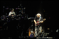 The Grateful Dead perfoming Picasso Moon at the Nassau Coliseum, Uniondale NY, 30 March 1990. Mickey Hart and Jerry Garcia.