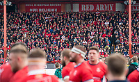 Picture by Allan McKenzie/SWpix.com - 30/03/2018 - Rugby League - Betfred Super League - Hull KR v Hull FC - KC Lightstream Stadium, Hull, England - Hull KR fans greet their team as they return to a Super League Hull derby.