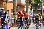 The peloton including Dutch Champion Fabio Jakobsen (NED) Deceuninck-Quick Step pass through Almussafes during Stage 4 of La Vuelta 2019 running 175.5km from Cullera to El Puig, Spain. 27th August 2019.<br /> Picture: Eoin Clarke | Cyclefile<br /> <br /> All photos usage must carry mandatory copyright credit (© Cyclefile | Eoin Clarke)