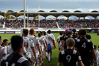 Entry of Players in Stade Aime Giral of Perpignan during the Semi Final Final U20 World Championship between France and New Zealand on June 12, 2018 in Perpignan, France. (Photo by Alexandre Dimou/Icon Sport)