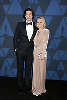 LOS ANGELES - OCT 27:  Adam Driver, Joanne Tucker at the 11th Annual Governors Awards at the Dolby Theater on October 27, 2019 in Los Angeles, CA