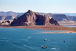 Boats on Lake Powell, Page, Arizona, AZ, USA