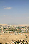 A view of Jericho and the Jordan Valley from Kypros, King Herod's fortress and palace