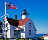 Martha's Vineyard, MA: West Chop Lighthouse (1891) and light keeper's house at the west entrance to Vineyard Haven Harbor