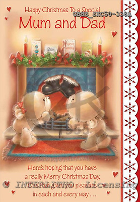 John, CHRISTMAS ANIMALS, paintings, GBHSSXC50-338A,#XA# Weihnachten, Navidad, illustrations, pinturas