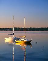 Boats on Geneva Lake, Walworth County, Wisconsin