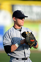 Tampa Yankees first baseman Matt Snyder #29 warms up before a game against the Dunedin Blue Jays on April 11, 2013 at Florida Auto Exchange Stadium in Dunedin, Florida.  Dunedin defeated Tampa 3-2 in 11 innings.  (Mike Janes/Four Seam Images)