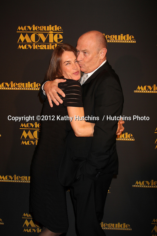 LOS ANGELES - FEB 10:  Amanda Pays, Corbin Bernsen arrives at the 2012 Movieguide Awards at Universal Hilton Hotel on February 10, 2012 in Universal City, CA
