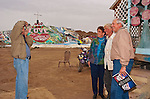 Leonard Knight artist and creator of Salvation Mountain by the Slabs near Niland, Calif...Leonard Knight is a gentle and friendly man who is sharing his passion for God with all comers in the Imperial Valley.