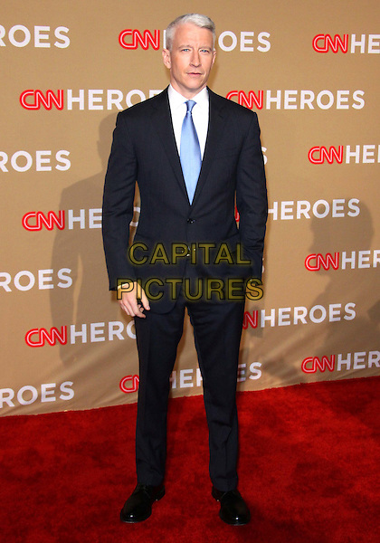 ANDERSON COOPER.The CNN Heroes: An All-star Tribute held at The Shrine Auditorium in Los Angeles, California, USA..November 20th, 2010.full length grey gray suit hand in pocket blue tie white shirt .CAP/ADM/TC.©T. Conrad/AdMedia/Capital Pictures.