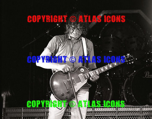 JIMMY PAGE: THE FIRM: Live, MADISON SQUARE GARDEN: .In New York City, 1985.Photo Credit: Eddie Malluk/Atlas Icons.com