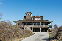 Rustic beach house, Kitty Hawk, Outer Banks, North Carolina, USA