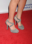 BEVERLY HILLS, CA- OCTOBER 23: Actress Jamie-Lynn Sigler (shoe detail) at the International Medical Corps' Annual Awards dinner ceremony at the Beverly Wilshire Four Seasons Hotel on October 23, 2014 in Beverly Hills, California.