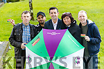 Kidney Donor receiptients, Donal O'Brien Pankaj Sharma, Stephen Byrne, Aidan O'Mahony winner of dancing with the stars and Thresa Looney, Patient Support Officer, Irish Kidney Association on Wednesday.