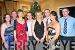 Staff from Astellas pharmaceutical plant,Killorglin held their Christmas party last Saturday night in the Ballygarry House Hotel,Mile Ht,Tralee enjoying themselves were L-R Eleanor&Jim Stack,Mary Kissane,Donal&Collette O'Halloran,Eamonn Kissane with Catriona&Mike Flynn..