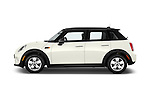 Car Driver side profile view of a 2015 MINI Cooper Hardtop S 4 Door Hatchback Side View