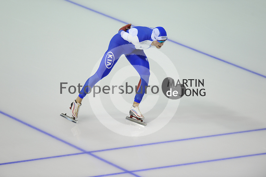 SPEEDSKATING: CALGARY: Olympic Oval, 07-03-2015, ISU World Championships Allround, 5000m Men, Denis Yuskov (RUS), ©foto Martin de Jong