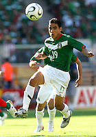Omar Bravo had a brilliant game for Mexico, scoring two goals. Mexico defeated Iran 3-1 during a World Cup Group D match at Franken-Stadion, Nurenberg, Germany on Sunday June 11, 2006.
