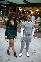 JOHANNESBURG, SOUTH AFRICA - MARCH 11: Street fashion at Johannesburg Fashion Week week on March 11 2016, at Nelson Mandela Square Johannesburg, South Africa. (Photo by: Per-Anders Pettersson)