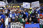 07 February 2015: Duke fans, the Cameron Crazies. The Duke University Blue Devils hosted the University of Notre Dame Fighting Irish at Cameron Indoor Stadium in Durham, North Carolina in a 2014-16 NCAA Men's Basketball Division I game.