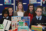 Winners Ronan Gumba Williams, Conor Kelly, Jennifer O'Donoghue, Chloe Doyle and Sorcha McGeown at the Drogheda Count Presentation in Drogheda Library...(Photo credit should read Jenny Matthews/NEWSFILE)...