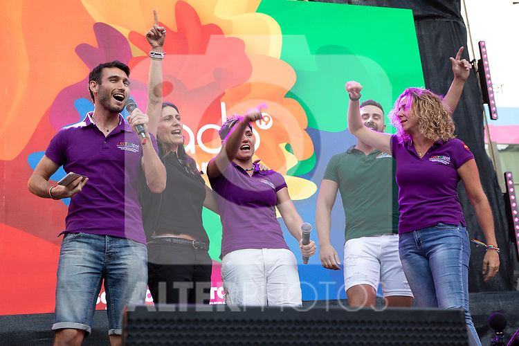 Representative of state security corps during the presentation of the lgtb pride party of Madrid. July 3, 2019. (ALTERPHOTOS/JOHANA HERNANDEZ)