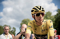 yellow jersey / GC leader / Tour 2019 winner at 22yr; Egan Bernal (COL/Ineos) at the start in Rambouillet<br /> <br /> Stage 21: Rambouillet to Paris (128km)<br /> 106th Tour de France 2019 (2.UWT)<br /> <br /> ©kramon