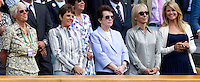 Ex-Female tennis stars, Bilie Jean King, Martina Navratilova watching Serena Williams (USA) (1) against Vera Zvonereva (RUS) (23) in the final of the ladies singles. Serena Wiliams beat Vera Zvonereva 6-3 6-2..Tennis - Wimbledon Lawn Tennis Championships - Day 13 Sun 4th Jul 2010 -  All England Lawn Tennis and Croquet Club - Wimbledon - London - England..© FREY - AMN IMAGES  Level 1, Barry House, 20-22 Worple Road, London, SW19 4DH.TEL - +44 (0) 20 8947 0100.Email - mfrey@advantagemedianet.com.www.advantagemedianet.com