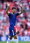 Alvaro Morata of Chelsea thanks the fans at the end of the FA cup semi-final match at Wembley Stadium, London. Picture date 22nd April, 2018. Picture credit should read: Robin Parker/Sportimage