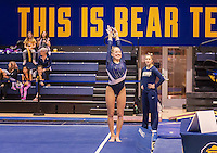 Berkeley, Ca - January 9, 2017: The 2017 Nor Cal Classic Women's Gymnastics at Haas Pavilion at the University of California. The Cal finished in first place with 195.325 points