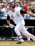 26 August 2007:  Colorado Rockies outfielder Matt Holliday in action against the Washington Nationals at Coors Field in Denver, Colorado. The Rockies defeated the Nationals 10-5 to sweep the 3-game series...Mandatory Photo Credit: Ed Wolfstein Photo
