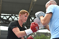 Micky Burke during a Public Workout at Old Spitalfields Market on 9th July 2019
