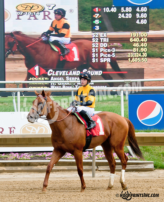Cleveland Sound winning at Delaware Park on 7/10/14