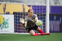 Orlando, FL - Sunday July 10, 2016: Libby Stout prior to a regular season National Women's Soccer League (NWSL) match between the Orlando Pride and the Boston Breakers at Camping World Stadium.