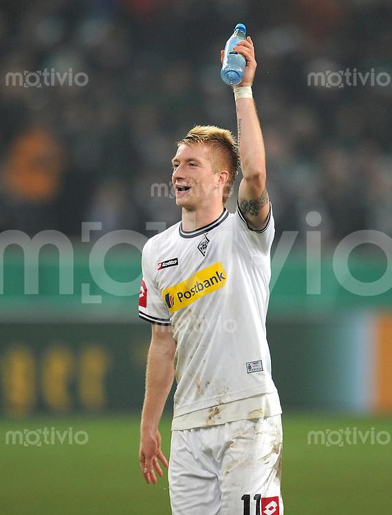 Fussball DFB Pokal:  Saison   2011/2012  Achtelfinale  21.12.2011 Borussia Moenchengladbach - FC Schalke 04 JUBEL Marco Reus (Borussia Moenchengladbach)