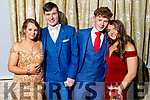 Joanna Browne, Mark Sweeney, Sean Barrett and Ciara Finnegan at the St Pat's and Castleisland Community College Debs in the Earl of Desmond Hotel on Friday night.