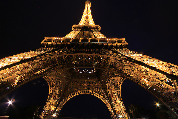 The Tour Eiffel or Eiffel Tower at night, Paris, France. .  John offers private photo tours in Denver, Boulder and throughout Colorado, USA.  Year-round. .  John offers private photo tours in Denver, Boulder and throughout Colorado. Year-round.