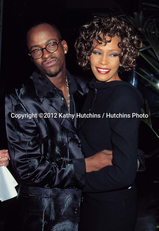 LOS ANGELES - SEP 28:  Bobby Brown, Whitney Houston arriving at the 3RD ANNUAL INTERNATIONAL ACHIEVMENT AWARDS at Beverly HIlton Hotel on September 28, 1997 in Beverly Hills, CA