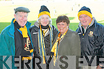 Dr Crokes fans John Lyne, Hannah Mary Lyne, Sheila Galvin and Malcahy Walshat their clash with  Ballinacourty during their Munster Championship quarter final clash in Dungarvan on Sunday