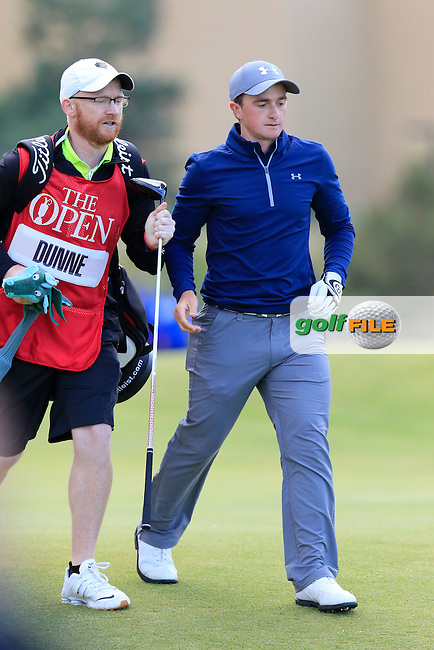 Paul DUNNE (AM)(IRL) walks off the 18th tee during Sunday's Round 3 of the 144th Open Championship, St Andrews Old Course, St Andrews, Fife, Scotland. 19/07/2015.<br /> Picture Eoin Clarke, www.golffile.ie