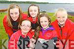 Girls from Workmen's RC at the Killarney Regatta on Sunday front l-r: Lauren McCrathy, Leona Browne, Ciara Browne, Siobhain Burns and Ciara Moynihan..