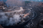 The open cast mine in Bokapahari village in Jharia, outside of Dhanbad in Jharkhand, India.  Photo: Sanjit Das/Panos
